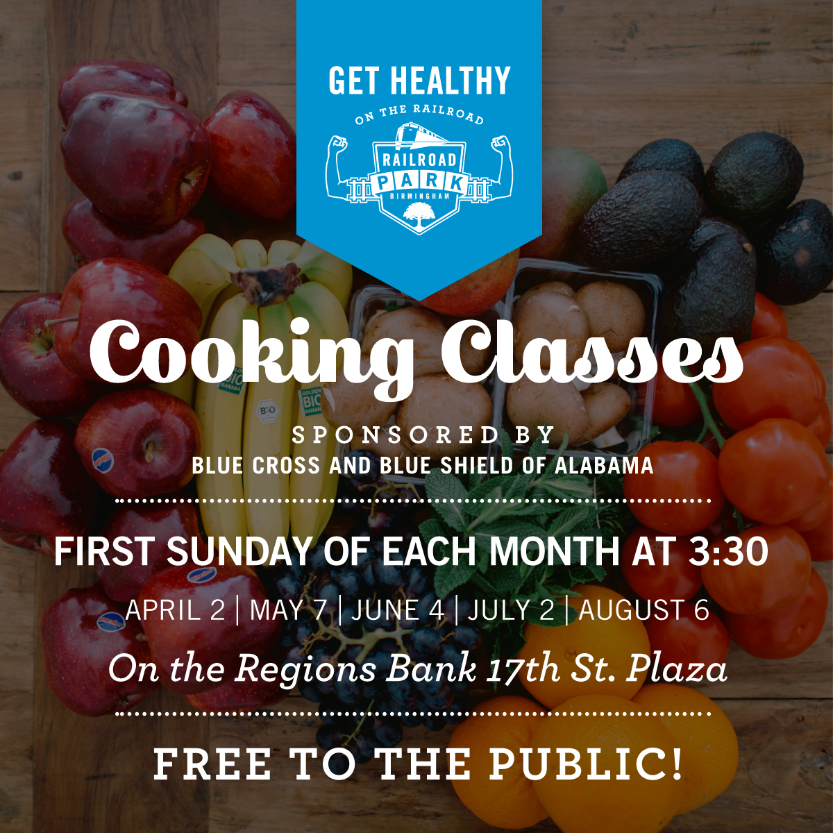 Get Healthy on the Railroad Cooking Classes sponsored by Blue Cross Blue Shield of Alabama