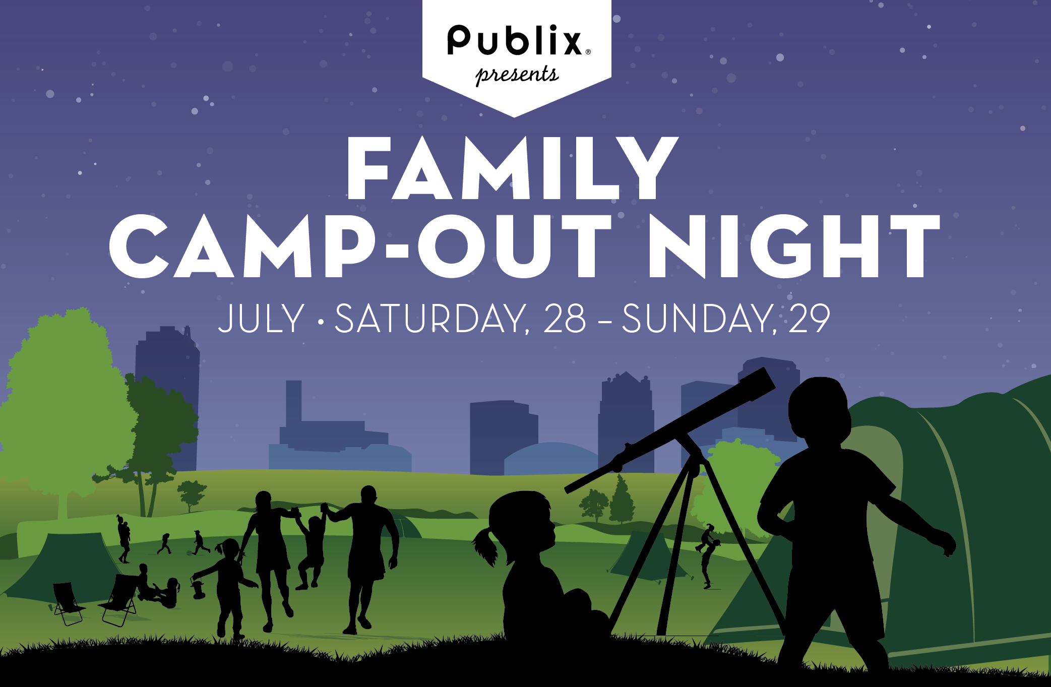 Railroad Park Family Camp Out Night Presented by Publix Supermarkets, Inc.